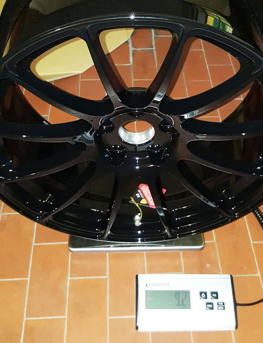 peso RS43 19x8.5 9.2kg BC Forged
